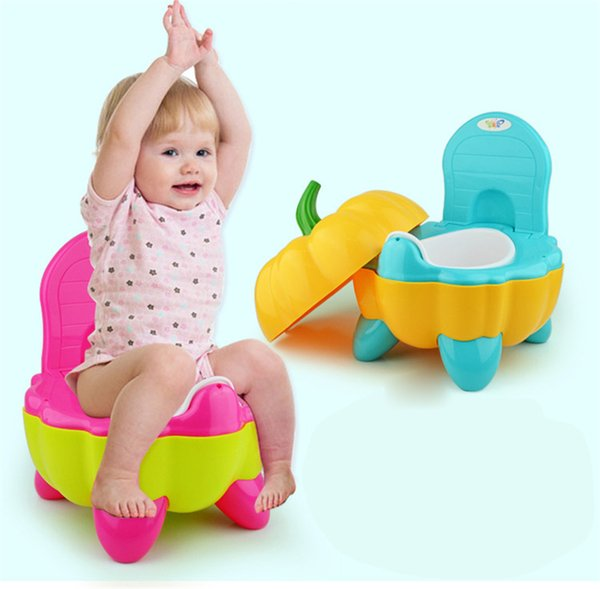 best selling New 3 Colors Cute Pumpkin Style Designer Toilet Seat for Children with High Quality Children's Toilet Training Device