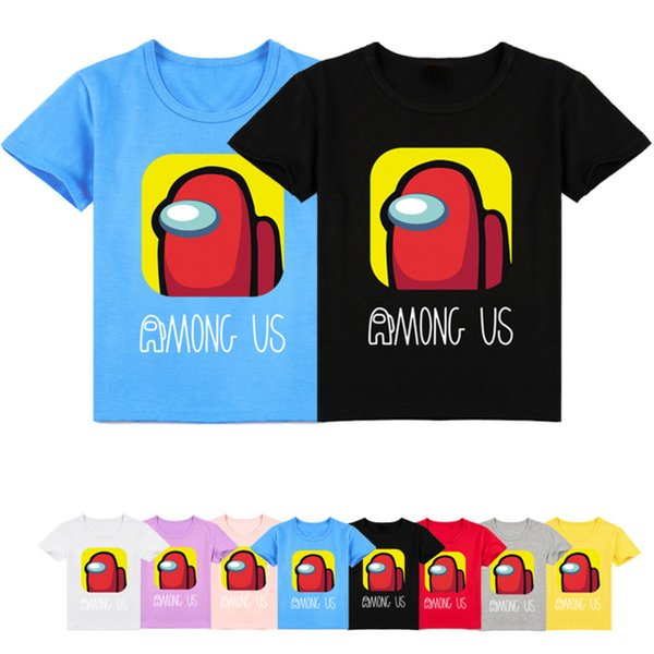 best selling 2021 Funny Summer Tops Hot Video Game Among Us T Shirt Kids Cartoon Kawaii Tee Children Clothing Boy T-shirt Baby Girls Clothes