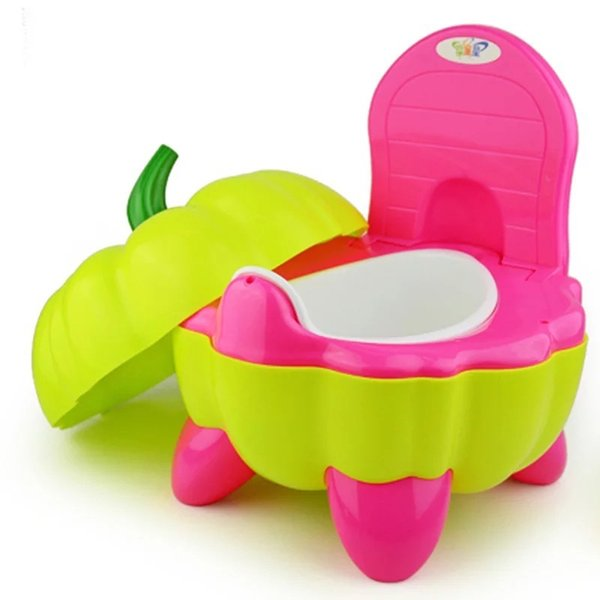 best selling 3Colors Cute Pumpkin Style Designer Toilet Seat for Children with High Quality Children's Toilet Training Device