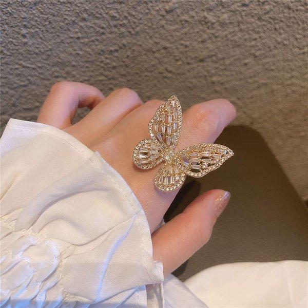 Bague super grande papillon