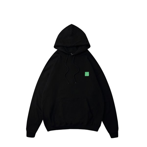 best selling Mens sweater back men and women couples eco-friendly printing hoodie loose shoulders color black green gray fashion