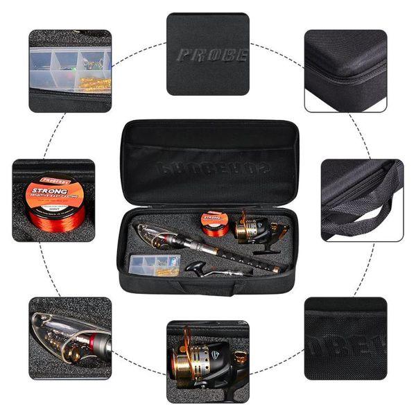 best selling Rod Reel Combo Fishing Lure Fish Nylon Line Bag Box Tackle Tool Set Rods Kit