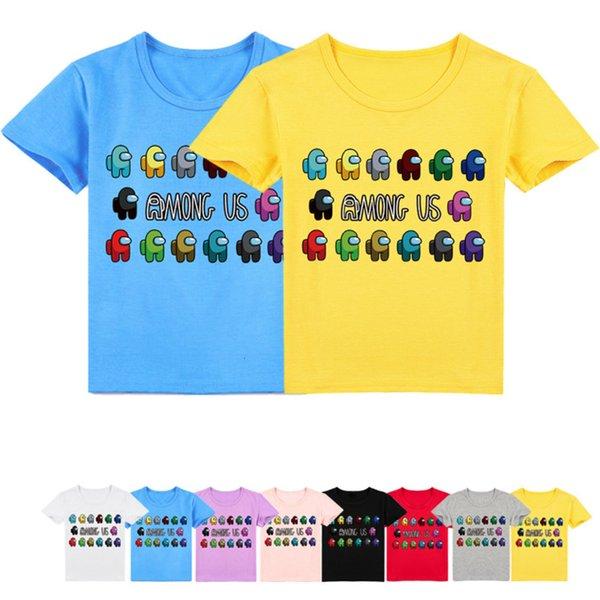 top popular Children Among Us T Shirt Kids Summer Clothes Boys Cartoon Impostor Print Tshirt Short Sleeves Toddler Girls T-Shirts Fashion 2021