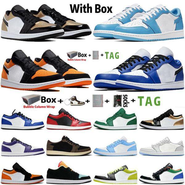 top popular 2021 New low Jumpman 1 1s sports shoes grey black sail OG SP Travis Scotts UNC hyper royal N7 men women sneakers trainers 2021
