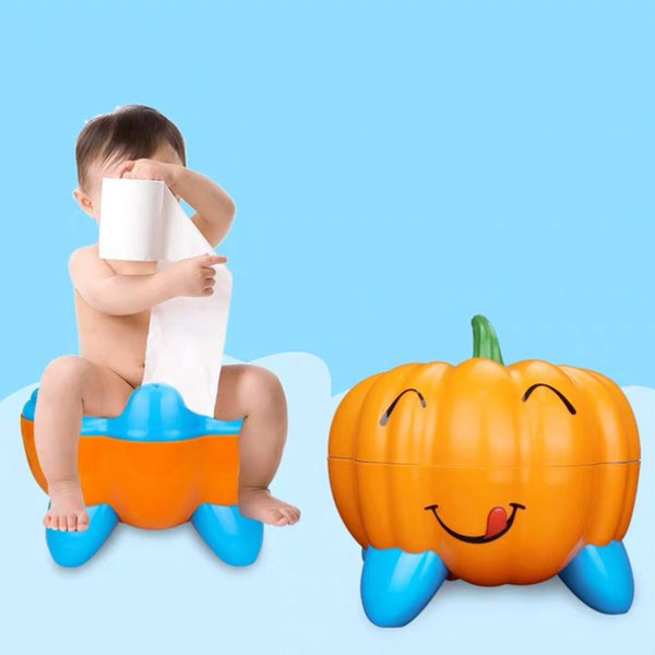 top popular 3 Colors Cute Pumpkin Style Designer Toilet Seat for Children with High Quality Children's Training Device 2021