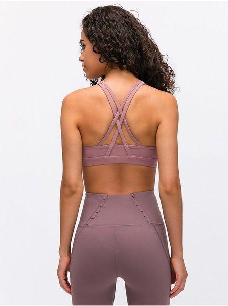 best selling yoga enery bra women Crossing Yoga Sports bra high neck Shirts gym Vest Push Up Fitness Tops Sexy Underwear Lady Tops yogaworld