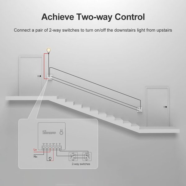 Remote Control Itead SONOFF MINI DIY Wifi Smart Switch Moudle Two Way Switch Via e-Welink APP Remote Control Switches For Smart