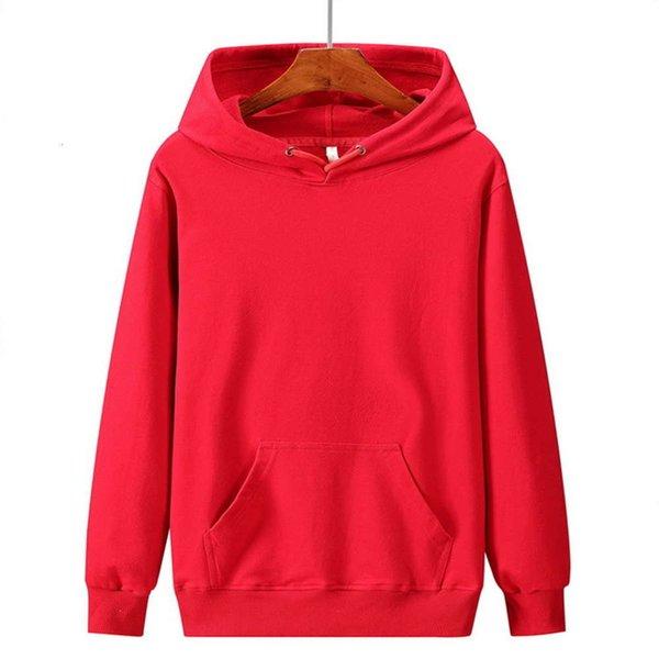 Hoodie vermelho brilhante da primavera e do outono