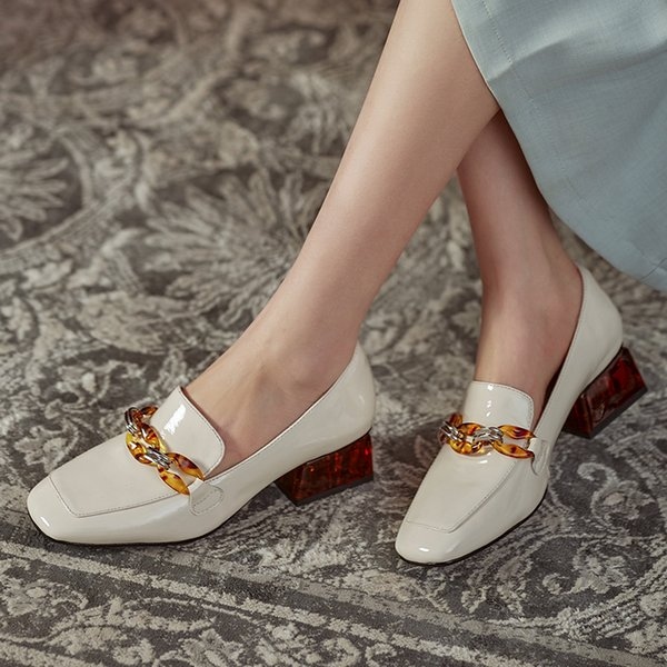 Concise Women High Heels Shoes Genuine Leather Round Toe Shoes for Women Genuine Leather 2021 Newest Party Basic Shoes Woman