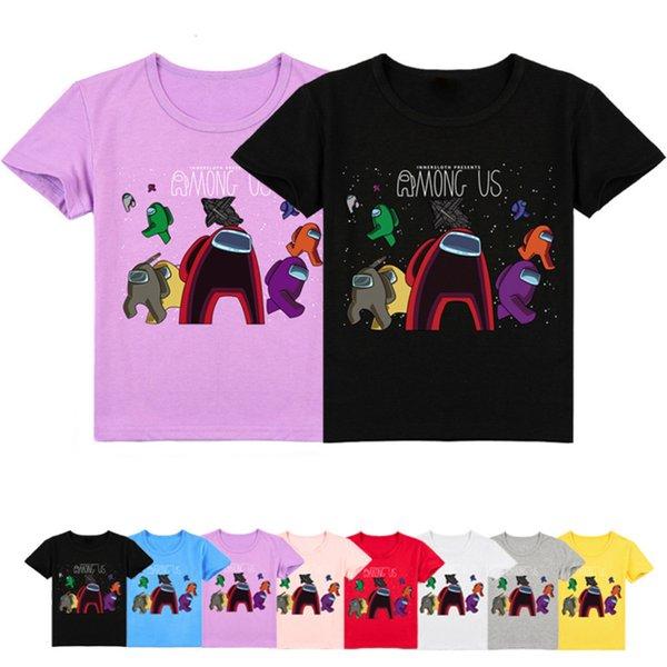 top popular New Among Us Tshirt Kids T-Shirt Hot Game Impostor Print Girls Funny Clothes Boys Costume Tshirts Children 2021 Summer Tops 2021