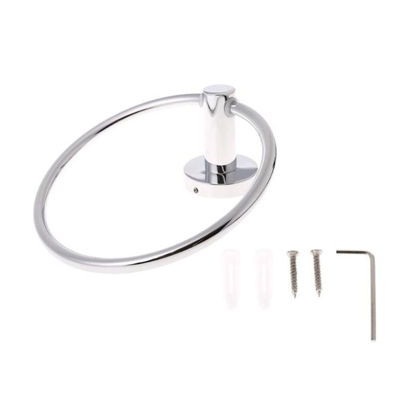 best selling Stainless Steel Towel Ring Round Wall Mounted Towel Holder Rings Rack Holder Bathroom Accessories Household Organizer