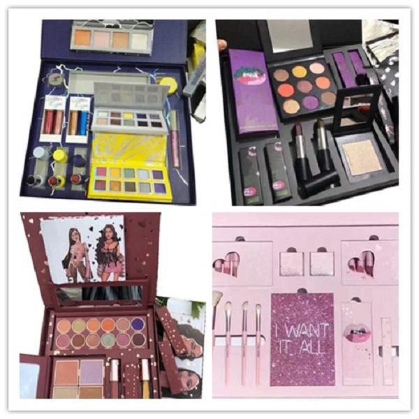 top popular Hot New Christmas Holiday Bundle Makeup Gift Set Collection Baby It's Cold Outside Lip Gloss Kits Chill Baby Eye Shadow Palette Free Ship 2021