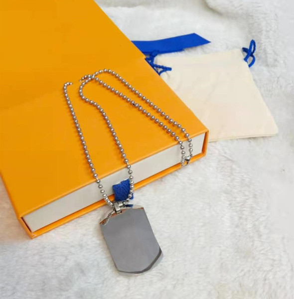 top popular Fashion Street Necklace Whistling Piano Pendant Necklaces for Man Woman Jewelry 6 Color with Box 2021