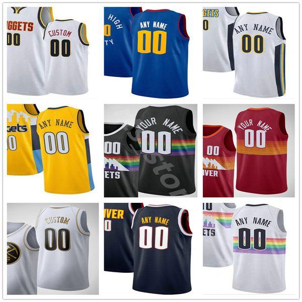 Custom 2021 Printed 15 Jokic Jamal 27 Murray Nikola Michael 1 Porter Jr. Facundo 7 Campazzo Gary 14 Harris Men Woman Basketball Jersey