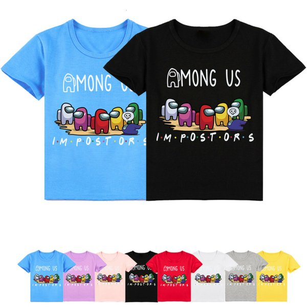 top popular 2021 Summer Game Among Us T Shirt Kids Impostor Tshirt Short Sleeves Baby Girls Funny Clothes Boys Graphic Tee 2-16T 2021