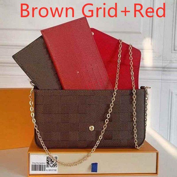rejilla marrón + rojo