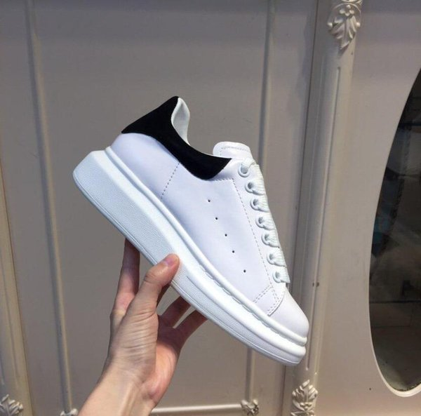 top popular With Shoe Box Top Quality Mens Womens Blue Velet Back Platform Sneakers White Genuine Leather Trainers Comfort Pretty Girl Wholesale Style Casual Shoes 2021
