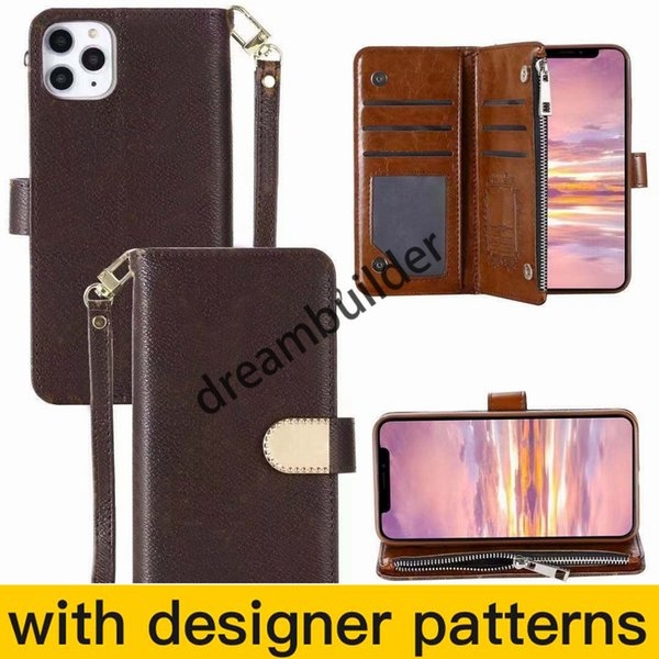 fashion phone cases for iPhone 12 Pro max mini 11 11Pro XR XSMAX shell leather Multi-function card package storage wallet cover