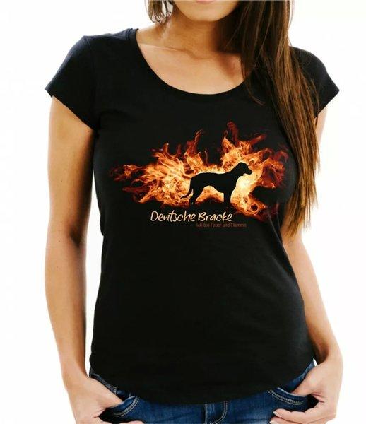 Ladies T-Shirt German psychiatrist fire and flame by siviwonder Dog Motif