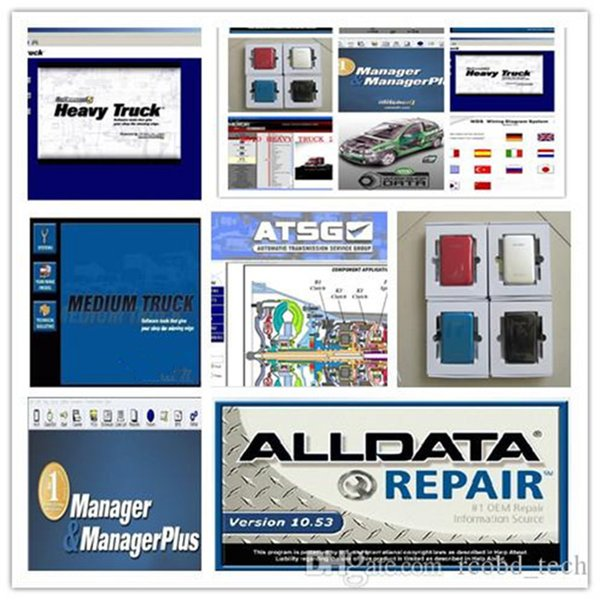 best selling Alldata newest version All data V10.53 car repair tool software moto heavy truk 49in1 with 1TB hdd Hard Disk