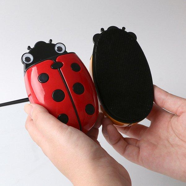 top popular Cute Ladybug Fridge Magnetic Storage Box Eraser Whiteboard Pen Organizer Save Space Kitchen Container Holder 2021