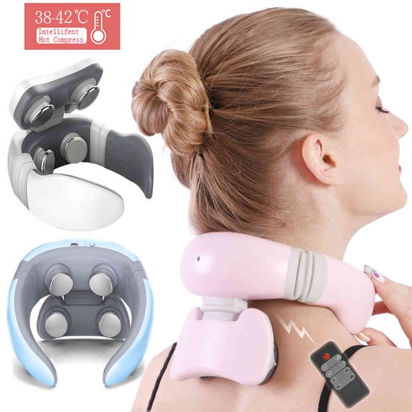 best selling Smart 4D Modes Electric Massager Pulse Back Power Control Far Infrared Neck Massage Pro Pain Relief Tool Health Care