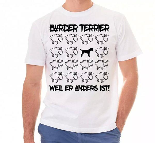 Border Terrier Unisex T-Shirt Black Sheep by siviwonder Men Dog Dog Motif
