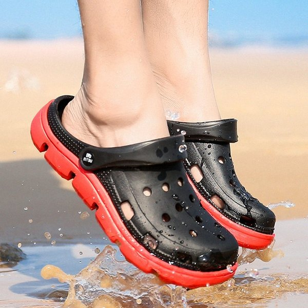 Men Sandals Slippers Summer Breathable Beach Sandals Men Double Wear Male Mesh Jelly Shoes Beach Mens Slippers Ladies Slippers Boys 84xp#