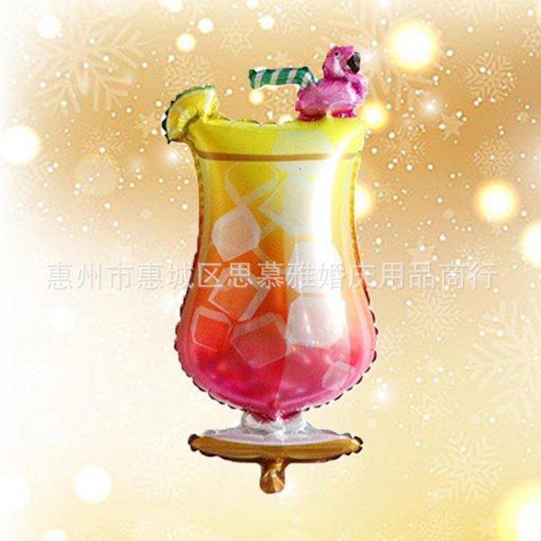 Copo de vinho do flamingo.