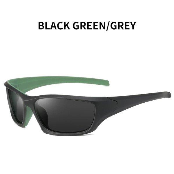 Verde preto - cinza