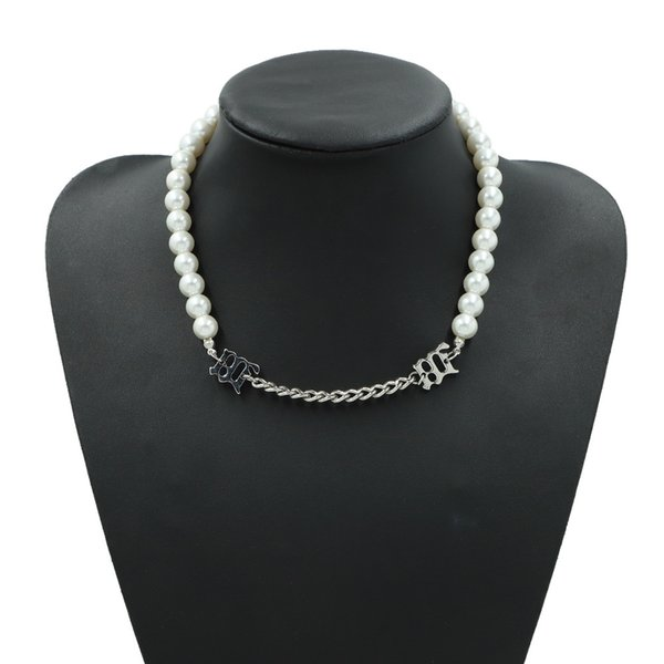 Korean pearl metal double creative fashion popular dinner accessories temperament women necklace Follow the feeling and choose what you like at first sight.