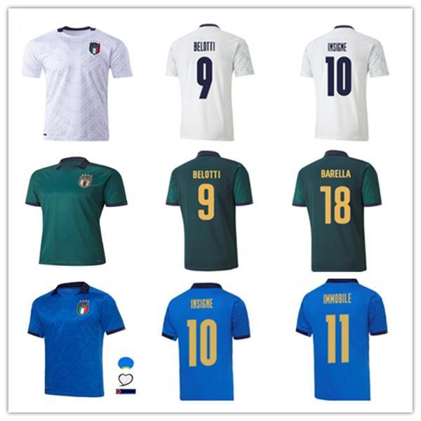 2020 2021 Italy soccer Jersey home away JORGINHO EL SHAARAWY BONUCCI INSIGNE BERNARDESCHI Adult men + kids kit FOOTBALL SHIRTS