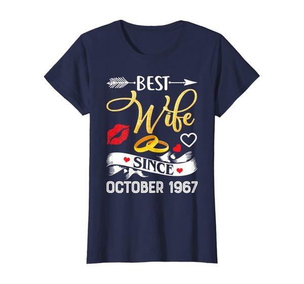 Womens 52nd Wedding Anniversary Shirts Best Wife Since 1967 T-Shirt