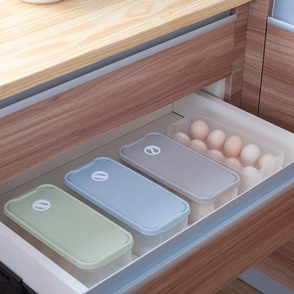 Kitchen Egg Storage Box10 Grid Egg Box Refrigerator Storage Box Kitchen Food Preservation Storage Box Egg Rack Organizer