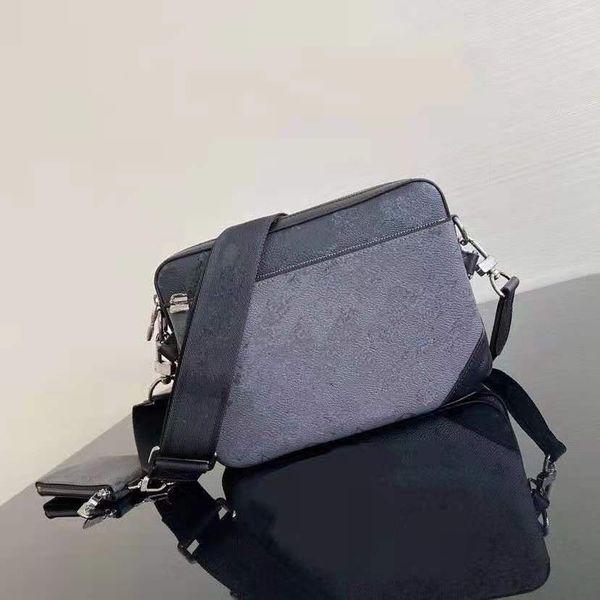 best selling Fashion 3 pieces men's diagonal cross bag Classic Letter Design handbags crossbody messenger shoulder bags chain bag good quality pu leather purses with box