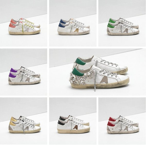 best selling Italian brand sneakers Golden BALL STAR classic white distressed dirty shoes goose designer Superstar men and women casual shoes G33MS590 pl