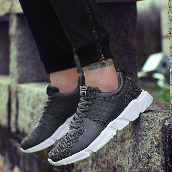 New Mesh Mens Casual Shoes Lac-up Men Shoes Breathable Sneakers Four Seasons Wild Retro Weaving Sports Casual Tide Running Shoes