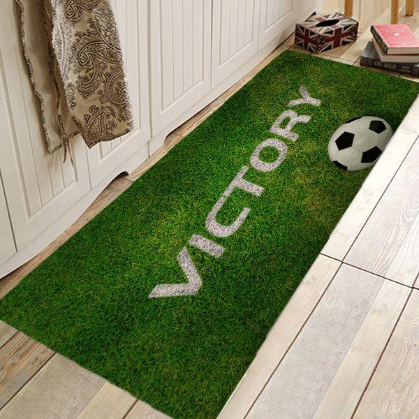 Eovna 3D Printing Footbal Field Rug Living Room Carpet Anti-Slip Rugs and Carpets for Home Living Room Kitchen Mat