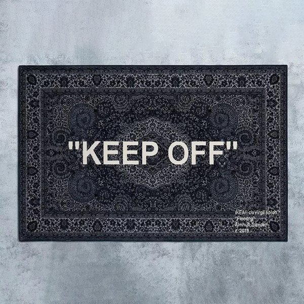 best selling Neew Upgrade ! White Cashew Fower Keep Off Carpets Floor Mats Trendy Designer Carpet Decorations Rug