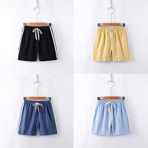 top popular 2021 Boys' Shorts for Girls' Summer Thin Children's Cotton and Hemp Pant Sports Beach Pants 2021