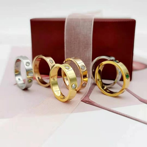 best selling 1pcs Drop Shippin Stainless Steel lover Ring Woman Jewelry Rings Men Wedding Promise Rings For Female Women Gift