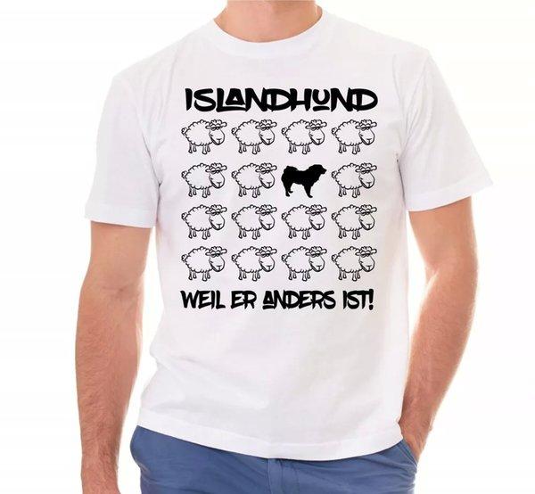 Iceland Dog Unisex T-Shirt Black Sheep Men Dog Dogs Motif Pointed Island
