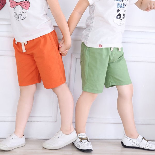 top popular Children's Shorts Thin Baby Summer Children's Wear 5-point Boys' Middle Pants Girls' Underpants Fashion 2021