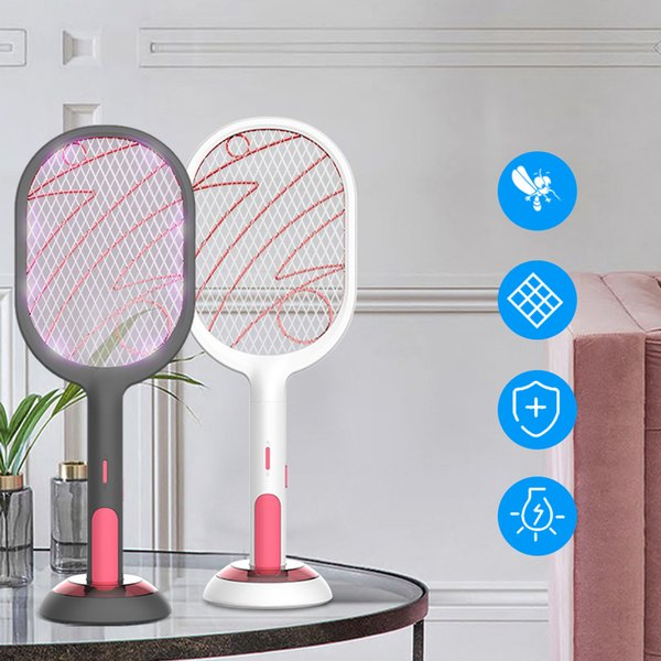Electric Fly Mosquito Swatter Mosquito Killer Racket Insects Killer Cordless Battery Power Room Mosquito Trap Swatter