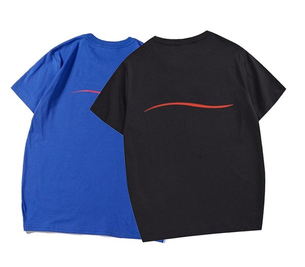 top popular 20ss T shirts fashion for kids boys short sleeve round neck blouses sweatshirt summer street Breathable Hip hop sleeved top Letter 100% Cotton Men and women Plus size 2021