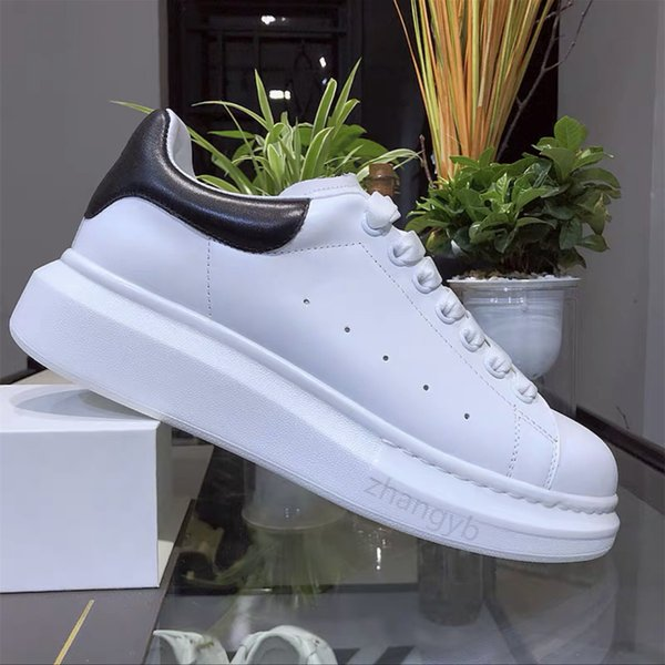 best selling 2021 Top Quality Mens Womens Leather Casual Shoes Lace Up Comfort Pretty Men's Trainers Daily Lifestyle Skateboarding 35-45