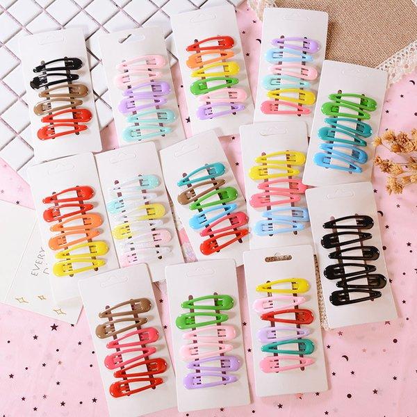 Hair Clip Kids Headwear Set Barrette Children Accessories Hair Clip 6Pcs/Set New Heart Type Metal Candy Color Girls Hairpins