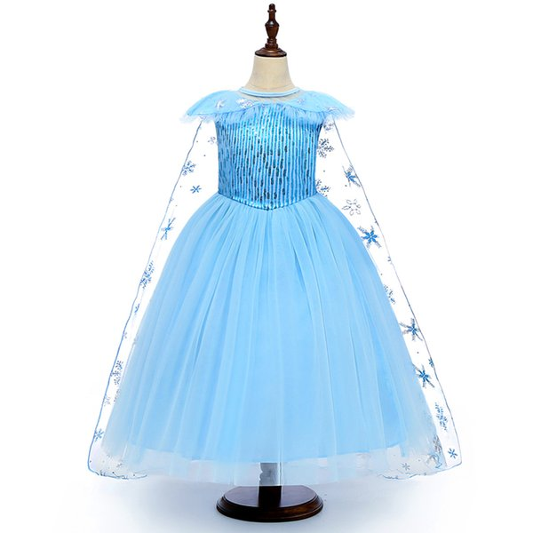 best selling Girls Cosplay Dresses Kids Cosplay Mesh Lace Party Dress Princess Dresses Yestidos Kids Costume Above 3T 04