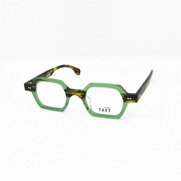 Lente transparente de marco verde
