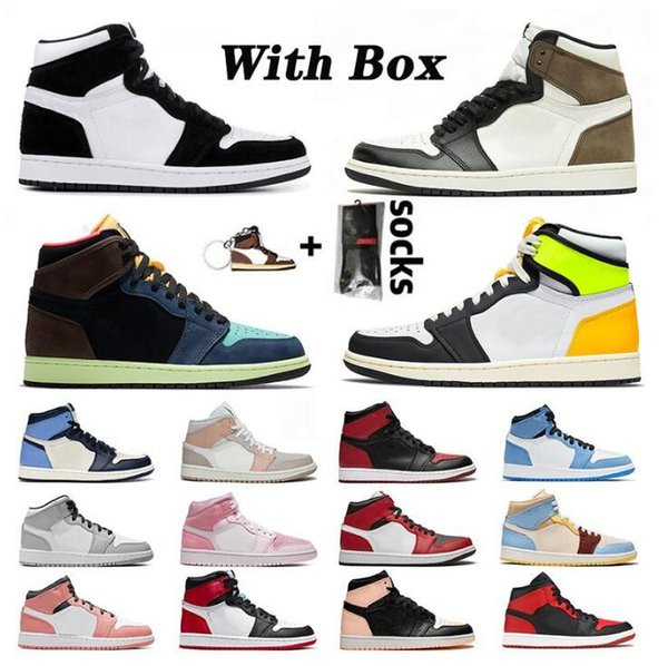 best selling Jumpman 1 1s Basketball Shoes High Dark Mocha Mens Women Mid Cactus Jack TWIST Pink Obsidian Bio Hack Chicago Top Sneakers Trainers With Box